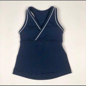 lululemon athletica tank top w/ bra size 6